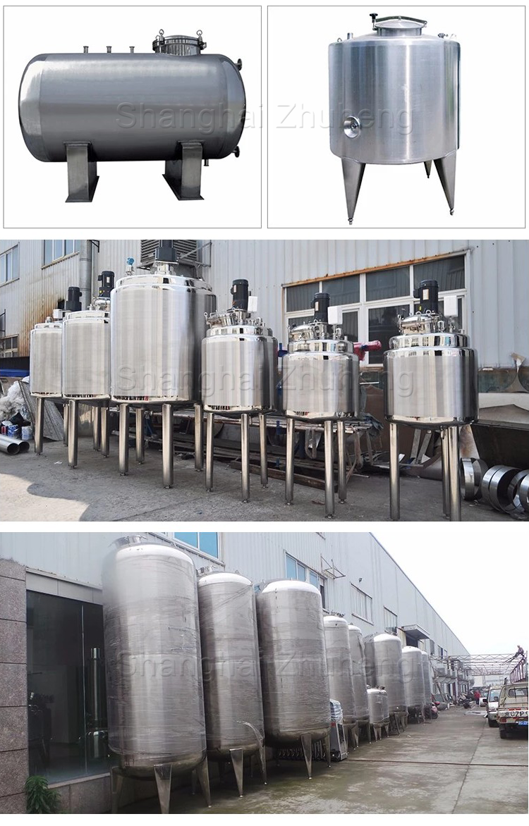 food grade liquid 20000 liter 100000 liter stainless steel vertical lpg water milk 10m3 tank storage tank price
