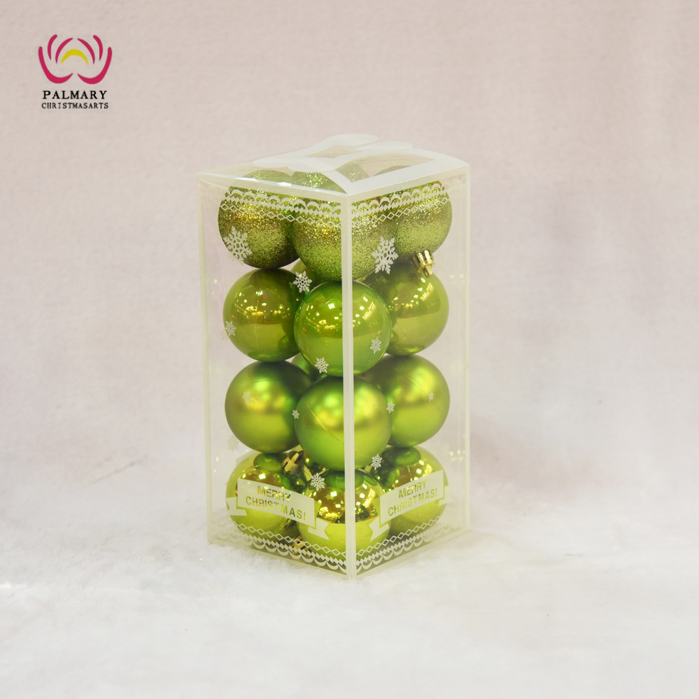 Factory whole sell Apple Green christmas ball tree ornaments