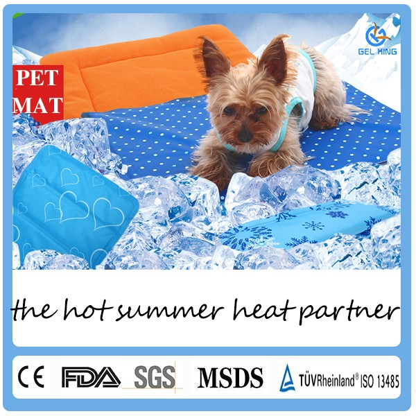 Chew Proof Dog Crate Bed Plastic Ripstop Nylon Cover Gel Cooling Mat
