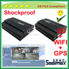 Free software 4ch dual car camera HDD mobile dvr/MDVR 3G GPS WIFI with G-sensor