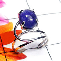 Natural AA Tanzanite Handcrafted Designer 925 Sterling Silver Ring