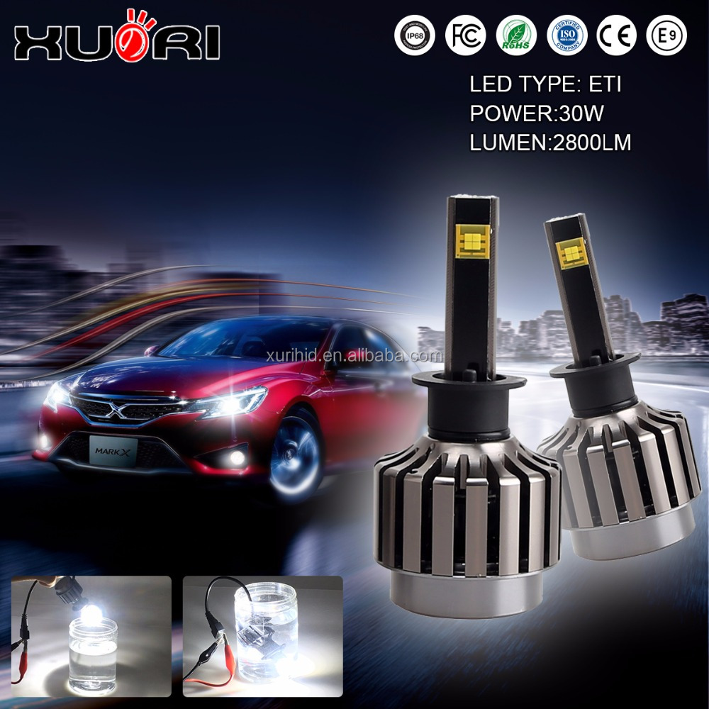 Automobiles & Motorcycles accessories led headlight 30w mini led car headlight for driving 6500K 2800LM h1 h3 h7