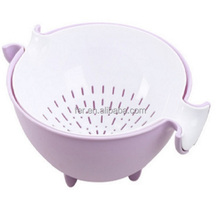 Plastic basket vegetable fruit bowl Kitchen Strainer Colander and Rinse Bowl