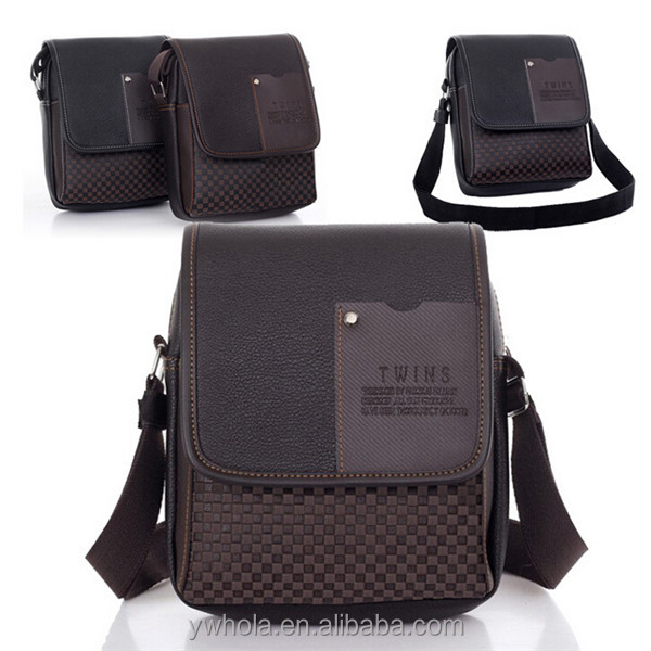 Business Leisure Eco-friendly Cheap PU Men Shoulder Messenger Bag