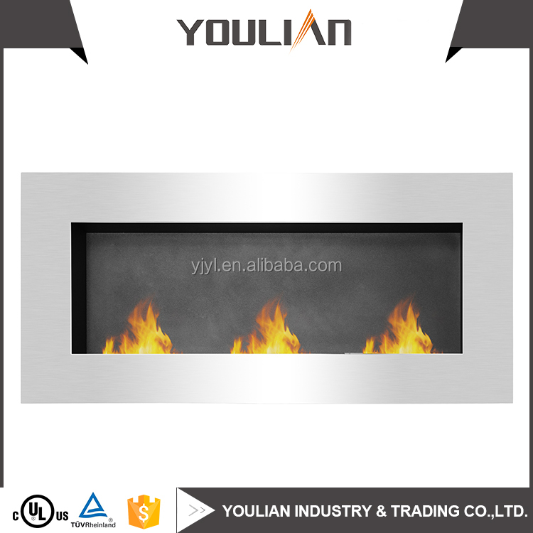 China Factory Supply Portable Wall mounted Ethanol Fireplace