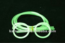 Christmas Party Glow in Dark Straws Glasses eyeglass frames piped Straw