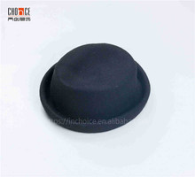 Formal hat plain black wool felted trilby homburg formal hat