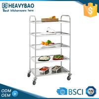 Stainless Steel Knocked-down Slab Hospital Transport Vegetable Cart Designs