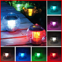 Free Shipping 7 Colors Change Multi LED Light Solar Floating Water Swimming Pool Ball