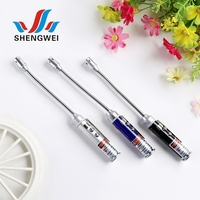 Wholesale christmas gifts mini soft pipe laser pointer light pen