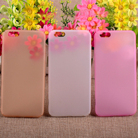 New arrival transparent color rubber hard case for iphone6 plus rubber back cover