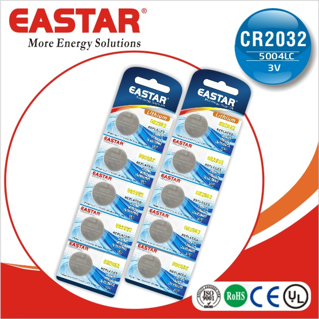 High quality lithium button cell cr2030 battery UL,CE,RoHS approved