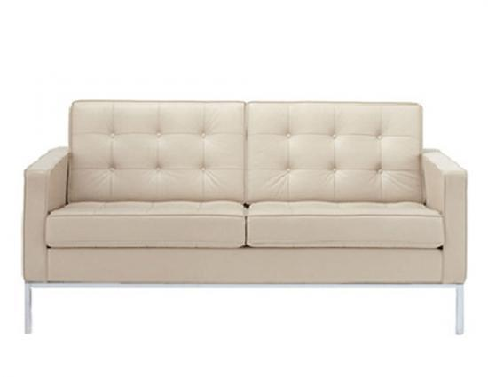 comfortable living room easy furniture top quality leather sofa Inspired by Florence Knoll