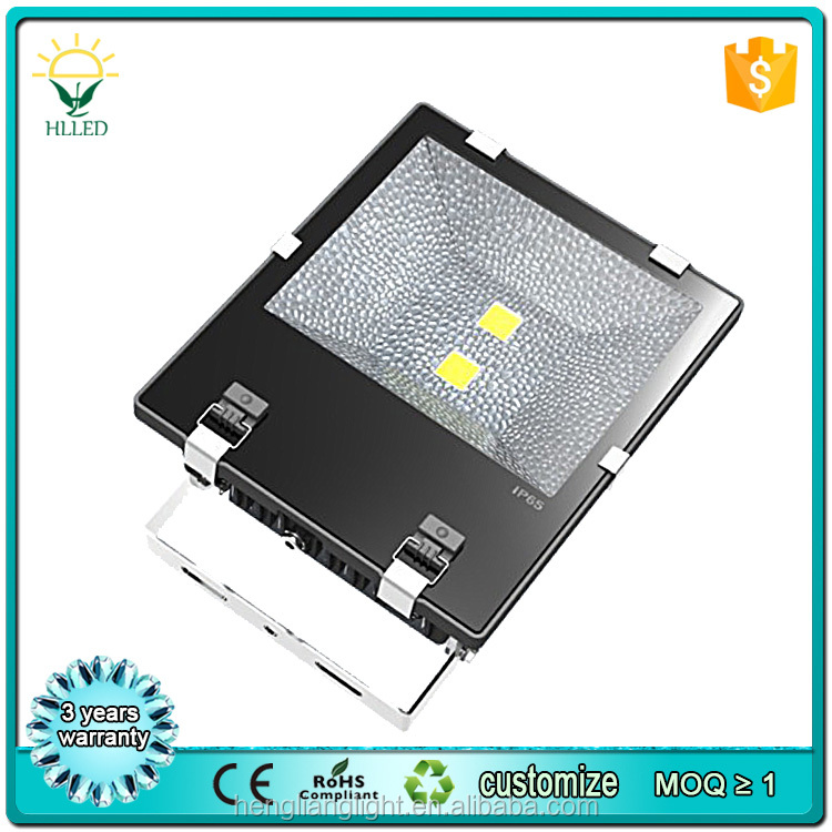 Low MOQ high brightness 80 CRI high lumen 12v PIR led flood light 150w 200w motion sensor flood light