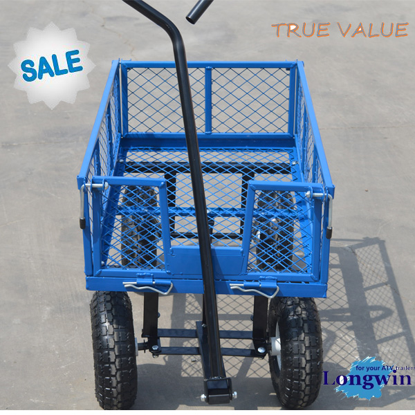 new model,small folding steel mesh roll container garden tool cart
