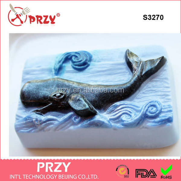 S3270 Whale shape Soap molds ocean handmade soap molds