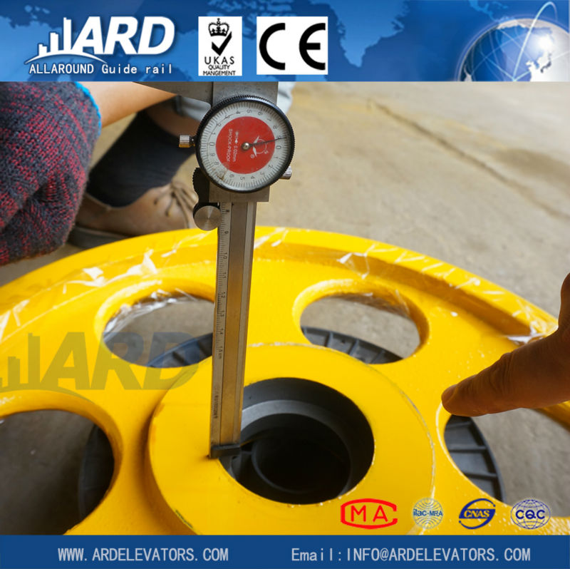 dray of nodular cast iron wheel/pulley rope roller