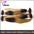brazilian silky ombre straight remy human hair weft,7a grade high quality unprocessed 100% brazilian hair