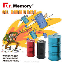 Dr.memory new promotion metal usb gedget flash drive oil drum u disk 2GB 4GB 8GB 16GB 32GB pen drive with key ring