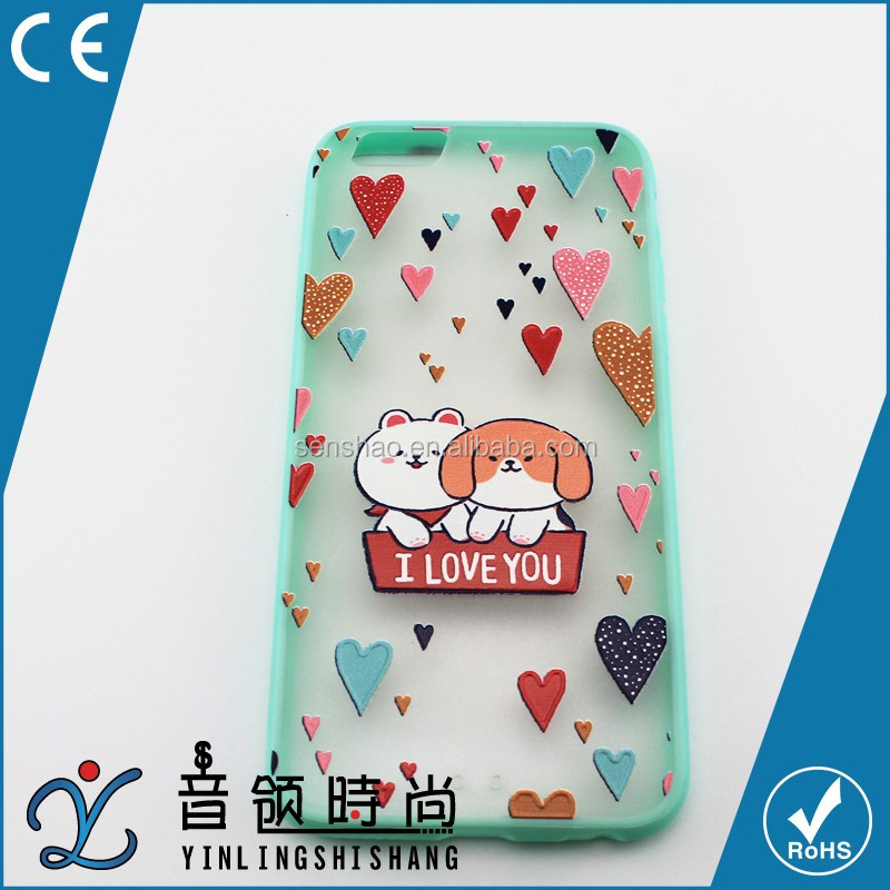 high quality Mobile Phone Accessories Factory price,Cute fancy TPU hard Phone Case Carton back cover For Iphone