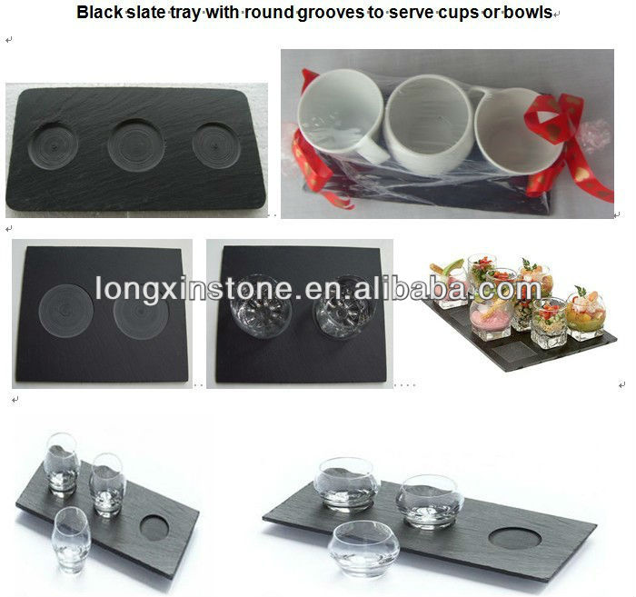 2 layers - slate cake stand holder