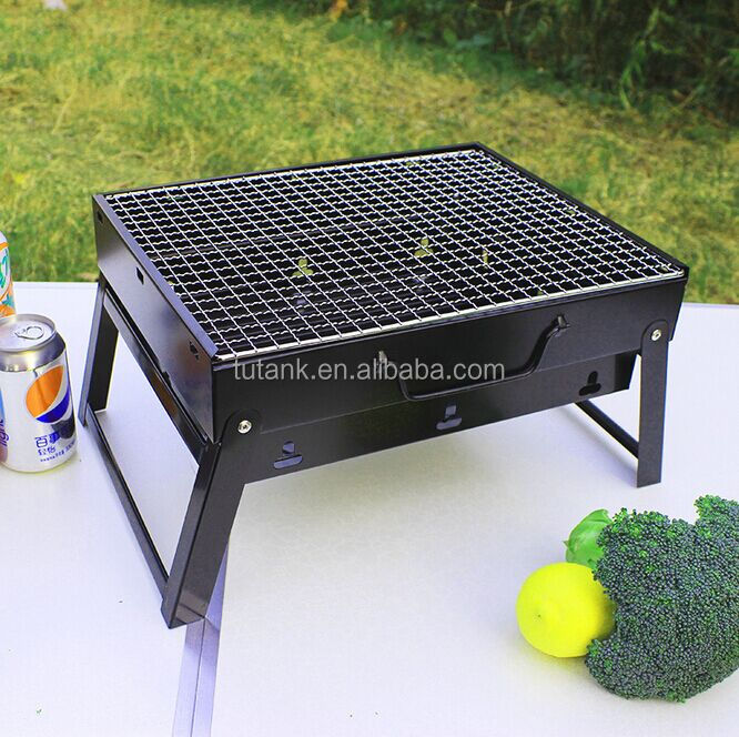 2016 New portable folding vertical cast iron charcoal bbq grill stove