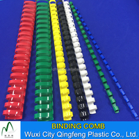 6MM 8MM 12MM 13MM 14MM Plastic Colorful Book Binding Comb Spiral Binding