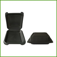 OEM Service Supply disposable plastic packaging black square tray