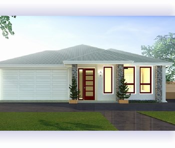 Light Steel Prefab house floor plan 3D design with folding windows