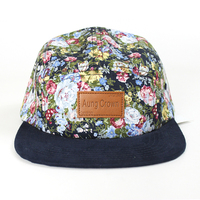 custom 5 panel hat cap headwear
