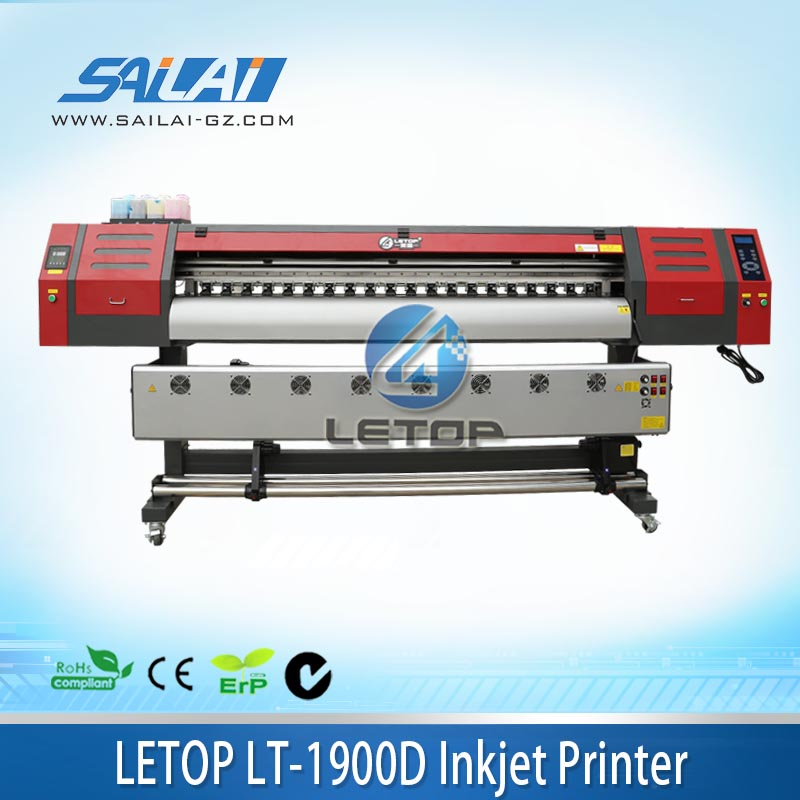 High quality!! 1.9m length BYHX board double dx7 printhead eco solvent/water based guangzhou large format printer