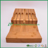 luxurious pure bamboo kitchen knife holder artwork, fuboo