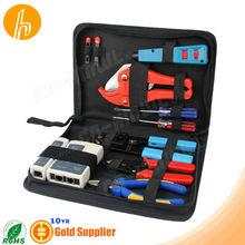 Multifunctional Tool Box with Crimping Tool Cutter Stripper screwdrivers tester