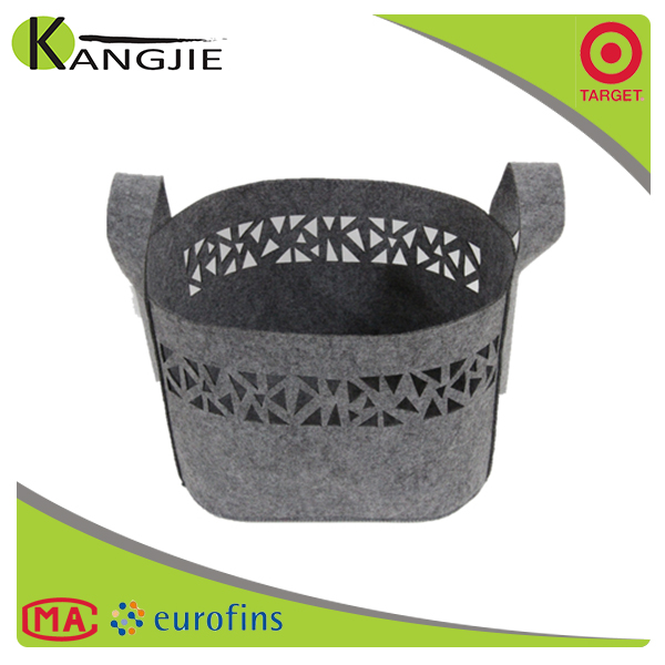 Durable using low price handmade wholesale felt storage basket