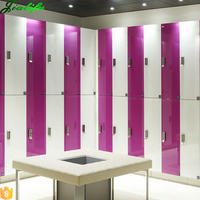 Modern shower room wardrobe safe clothing 2 door lockers