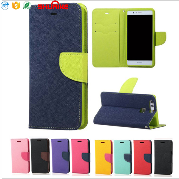 Wallet Leather Skin Flip Case Cover For Galaxy A5 2017 S7 S8 Plus J3