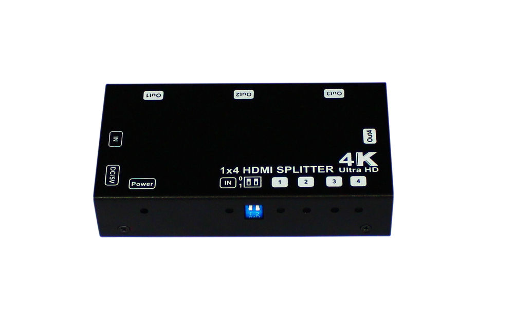 Shunxun Hot sale 4k@60FPS HDMI Splitter Distribution Hub 1x4 support HDCP and EDID