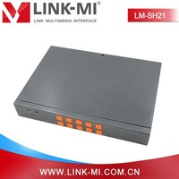 LINK-MI LM-SH21 2x1 HDMI+VGA+CVBS 1080p HD Video Synthesizer the data processing ability strong