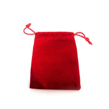 Black velvet jewelry bag, red velour jewelry pouch-small gift package Drawstring bag for little items