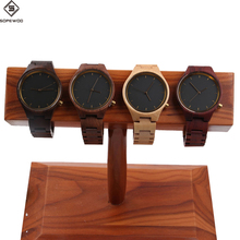 New high quality custom logo naturla bamboo maple walnut zebra red green black sandalwood wooden bamboo watches