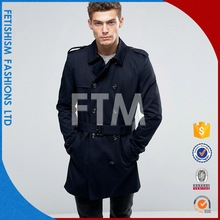 Best Brand pocket long on men's coat