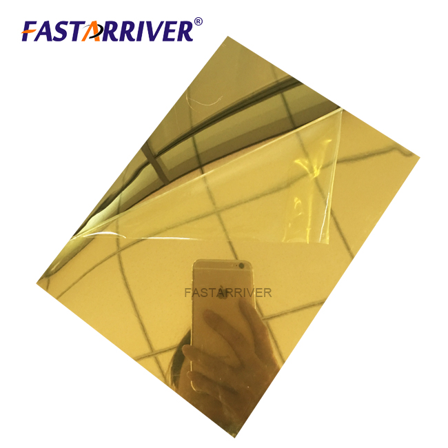 Gold Anodized Aluminium Mirror Sheet used in Decoration, Building