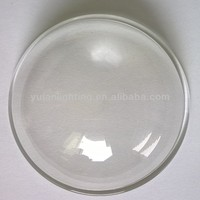 bent/curved/dome 2mm tempered glass lens/cover/diffuser