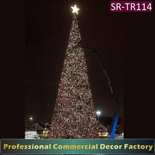 32ft 35ft 38ft outdoor pre lit large giant christmas tree with led decoration