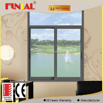 Sliding Open Style and Horizontal Opening Pattern Double Glazed Tempered Glass Windows