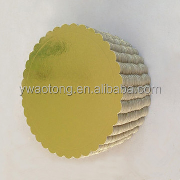 3mm thick round gold color paper cake drum