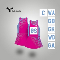 Newest top quality netball tennis jersey dresses custom