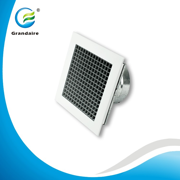 China Factory Aluminum Egg Crate Metal Grilles Diffusers with Adaptor in Ventilation System