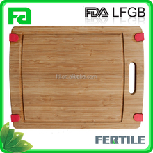 Hot Selling Eco-Friendly Non slip silicone edges Wood/Bamboo Cutting Board/chopping board