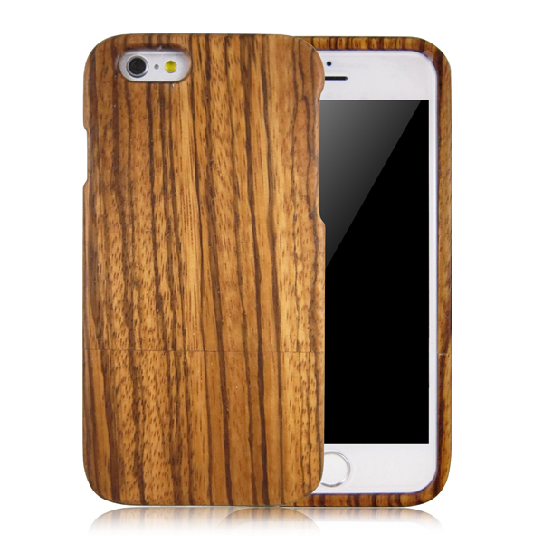 Zebra wood phone shells blank wood mobile phone case two parts back cover for iPhone 6